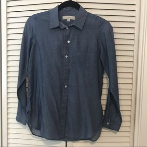 Ann Taylor Loft Chambray Button Down, EUC XSP